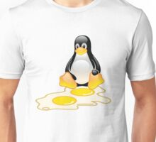 LINUX TUX PENGUIN TWINS SUNNYSIDE UP  Unisex T-Shirt