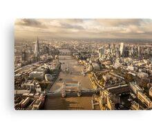 Aerial London looking westwards Canvas Print