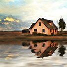 Peach House Reflection by Ann  Van Breemen