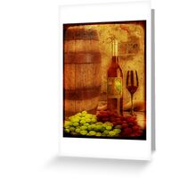 Wine Still Life Greeting Card