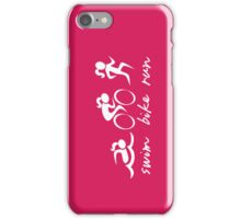Swim bike Run Girl iPhone Case/Skin