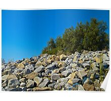 Rock Wall and Sky Poster