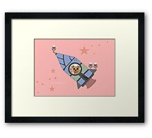 WHO LOVES TO FLY? WHO?? WHO??? Framed Print