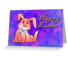 Red Bunny Rabbit Greeting Card
