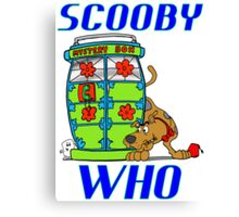 Scooby Who Canvas Print
