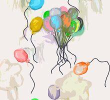 Balloons - Minimalist by ohtree