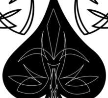 Pinstriped Spade Sticker