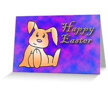 Orange Bunny Rabbit Greeting Card