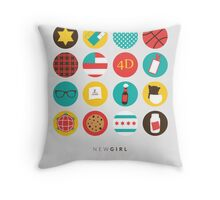 New Girl Things Poster Throw Pillow