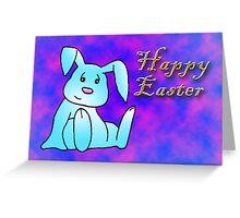 Turquoise Bunny Rabbit Greeting Card