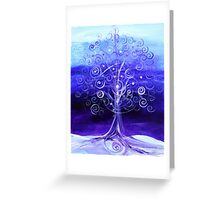WINTER TREE, Abstract Tree Art, COLD, Beautiful Blues, Violets, NICE!! Must see!! Greeting Card