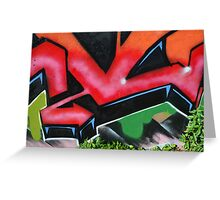 Graffiti close up - Greeting Card