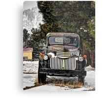 1946 Chevy Pickup Verticle Metal Print