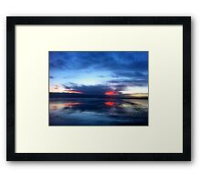 SOLD - REFLECTIONS AT SUNDOWN  - VIEW LARGE Framed Print
