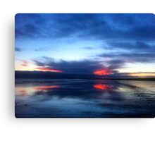 SOLD - REFLECTIONS AT SUNDOWN  - VIEW LARGE Canvas Print