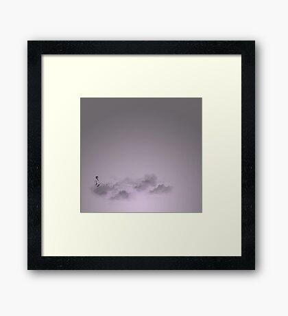 girl in the sky Framed Print