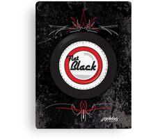 Flat Black Canvas Print