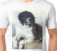 Newfoundland Dog Painting Unisex T-Shirt