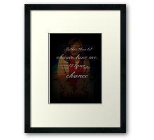 I'll Take a Chance - Diana Goodman Framed Print