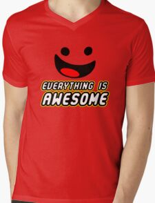 Everything Is Awesome Mens V-Neck T-Shirt