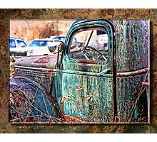 Junk yard truck Photographic Print