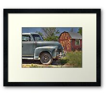 By the Red Shed Framed Print