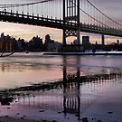 Winter Horizon - RFK Triborough Bridge by ponycargirl