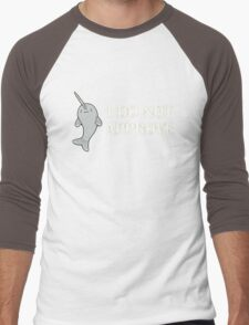 The Disapproving Narwhal  Men's Baseball ¾ T-Shirt
