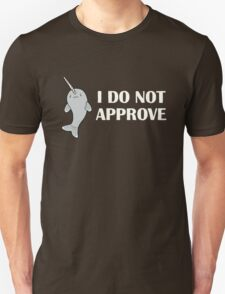 The Disapproving Narwhal  Unisex T-Shirt