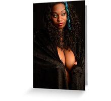 sexy plus bbw thick plussize ebony curves curvy Greeting Card