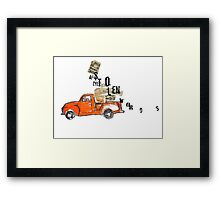 'stolen words' Framed Print