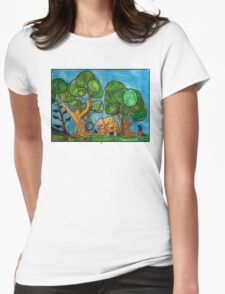 Fast asleep Foxes Womens Fitted T-Shirt
