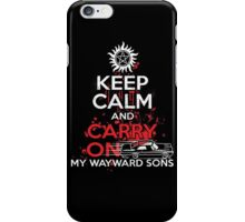 Supernatural - Keep Calm And Carry On My WayWard Sons T-Shirt   iPhone Case/Skin