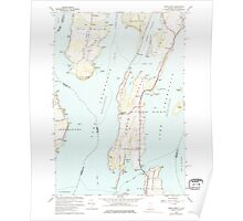 USGS Topo Map  Vermont VT North Hero 337564 1966 24000 Poster