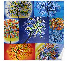 vibrant tree of life design  Poster