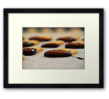 Chocolate-Dipped Butter Cookies Framed Print