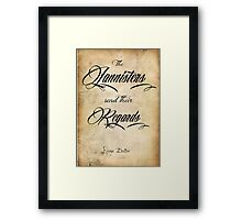 The Lannisters send their regards Framed Print