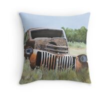 Truck Stop Throw Pillow