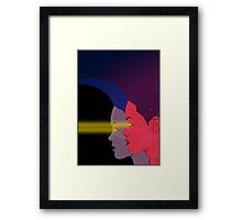 Purple and blue. Framed Print