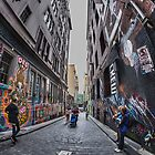 Hosier Lane Fisheye by Vicki Moritz
