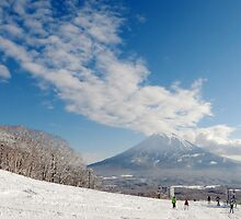 Mt Yotei from the ski slopes by Garrington
