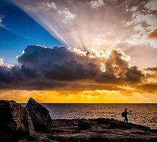 Maroubra sunrays by Chris Brunton