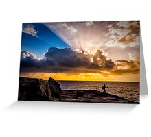 Maroubra sunrays Greeting Card