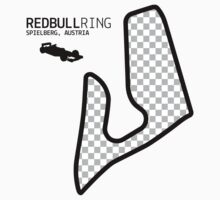 Spielberg, Austria 2014 Formula 1 Circuit (Black Design Edition) by abbei
