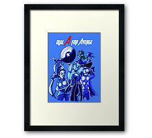 Dial A For Avenge Framed Print