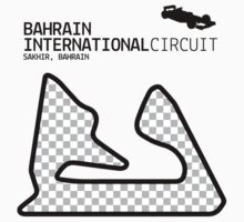 Sakhir, Bahrain 2014 Formula 1 Circuit (Black Design Edition) by abbei