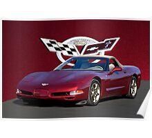 2002 Corvette 50th Anniversary Convertible I Poster