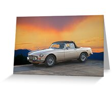 1973 MGB Roadster Greeting Card
