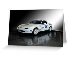 1991 Mazda Miata SCCA Spec Car Greeting Card