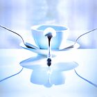 Blue balance in my cup of coffee by Aikaterini  Koutsi Marouda